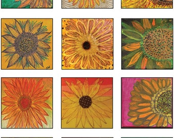 Sunflower Art Poster - original art