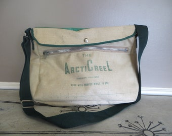 ArcticCreel Vintage Fishing Bag Insulate Fishing Sack Fathers Day Gift Fishing Tote Creel
