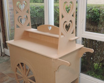Top quality traditional style Candy Cart for Weddings or Parties - wooden mdf