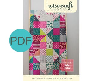 Interwoven Quilt Pattern, PDF Instant Download