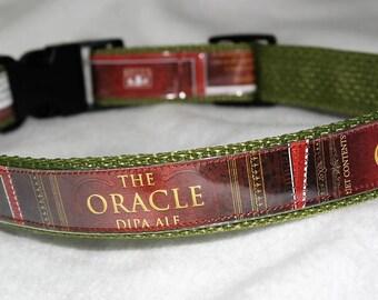 Collier de chien réglable brasserie l'Oracle DIPA Ale bière étiquettes de Bell recyclé de