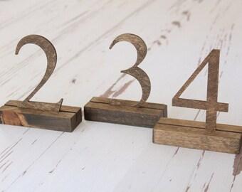 Rustic Table Numbers Wedding Table Numbers Freestanding Table Numbers Rustic Wedding #downintheboondocks