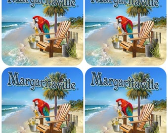 Jimmy Buffett Margaritaville Drink Coasters