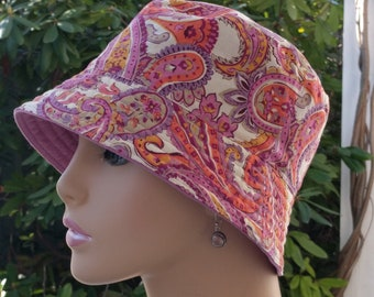 Chemo Hat Cancer Hat Alopecia Hat Womens Cancer Cap  Made in the USA. SMALL-MEDIUM