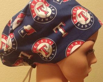 best sale 198ae 512ab ... womens surgical cap scrub hat chemo cap mlb texas  ... 7d52a21bf4