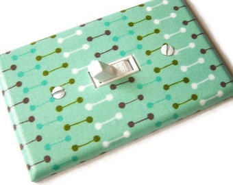 GREEN RETRO Light Switch Cover Plate Switchplate Mid Century Modern Decor