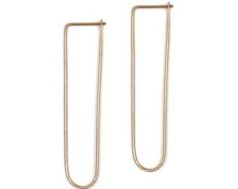 Constance, Long U Hoop Earrings