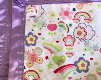 Happy rainbow silkie baby blanket