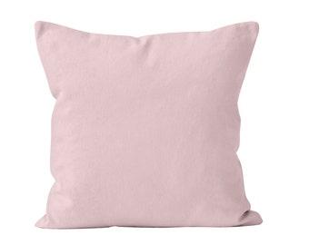 Light Pink Pillow Cover, Pastel Pink Pillow Cover, Light Pink Decor Neutral Pink Decor, Minimalist Pillow Cover Pastel Pink Cushion Cover _M