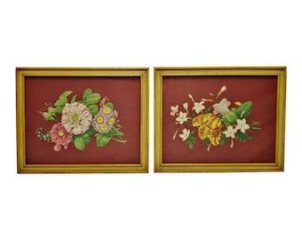 Vintage Framed Botanical Prints - A Pair