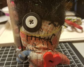 British Guard Voodoo Doll with Tim Holtz Fabric