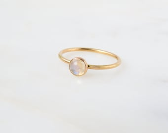 Moonstone Ring | Gemstone Ring | Rainbow Moonstone Ring | Personalized Ring | Birthstone Ring | Birthday Gift | Mothers Ring | Gift for her