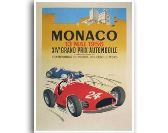 Race Car Poster Auto Racing Motor Sports Art (H382)