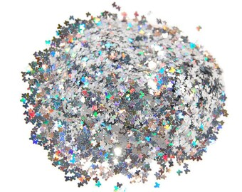 Silver Butterfly Glitter, Silver Glitter, SOLVENT RESISTANT,  Holographic Glitter,  BUTTERFLIES, Glitter Nail Art , Glitter Nail Polish