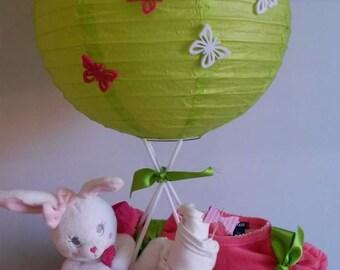 Balloon girl diaper cake