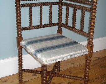 Arts and Crafts Corner Chair Bobbin Turned