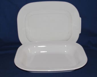 Corning Ware OPEN ROASTER L15 with Storage Lid Casual Elegance Ivory Calypso Corningware