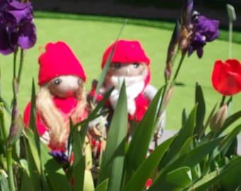 Vintage Handmade Swedish Tomte Dolls- Nils and Ingalill