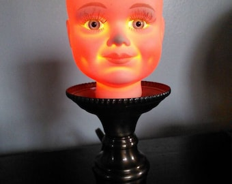 Weird Baby Doll Head Lamp Inspired By Tim Burton Stuff And Silent Hill
