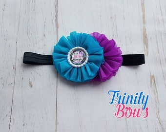 That Bow Though Headband - Purple Headband - Black Headband - Girl Headband - Flower Headband - Blue Headband