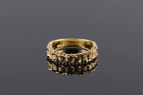 14k Woven Link Movable Ring Band Ring Gold by Etsy