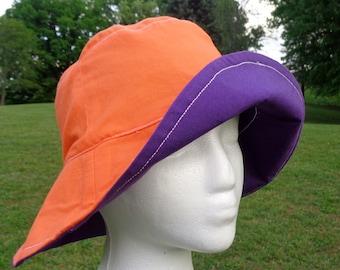 Women's Sun Hat  Clemson reversible bucket hat women beach