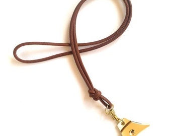 Nappa leather lanyard - various colours