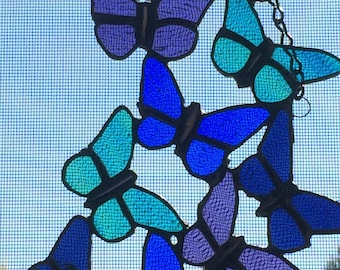 Stained Glass Butterfly Cluster