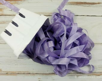 5 yards Lilac Seam Binding. Packaging, Scrapbooking, Shabby Pretty Embellishment