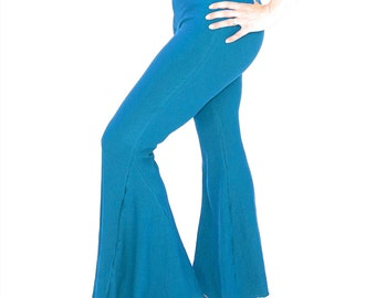 Dance Yoga flare pants, bell bottom, BIG FLARES - yoga, hippie, dance wear, tribal fusion, bellydance