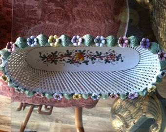 Antique Braid Porcelain Dish