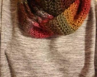 handmade rainbow ombre infinity scarf