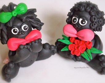 Wedding Baboons Cake toppers - Made To Order