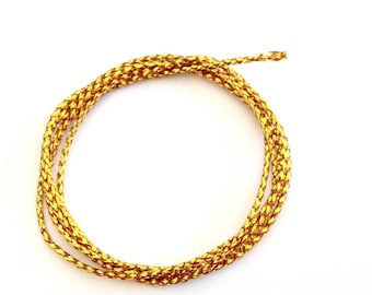 X 10 M cord 0.8 mm gold metallic effect.