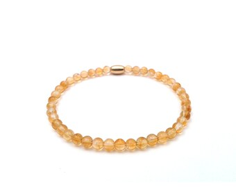 November birthstone, citrine bracelet, November bracelet, citrine quartz, November birthday, November gift.