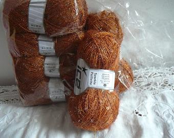 set of 6 balls of yarn sequins