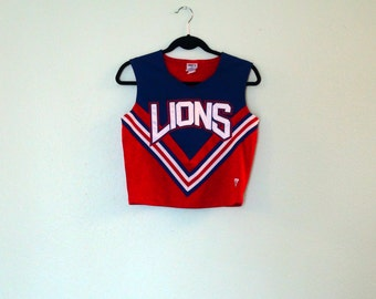 Vintage Lions Striped Cheerleader Tank Top (Large)