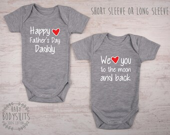 Father's Day Twin Outfits, Gender Neutral Twin Clothing, First Father's Day Matching Outfits, 1st Father's Day Gift, Twin Babies, Baby Twins