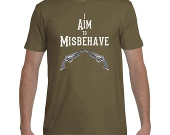 Firefly I Aim To Misbehave - T-Shirt - Sci-Fi Shirt, Mens' Gift, Women's Gift, Geeky Shirt, Nerdy Shirt, Serenity