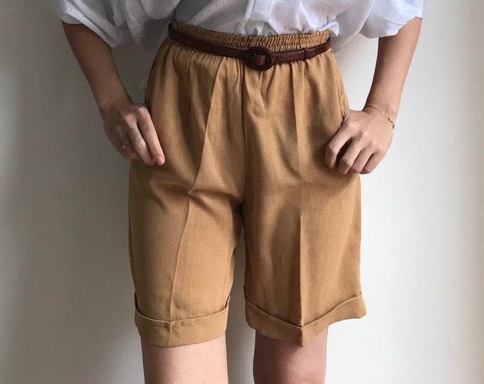 90s Caramel High-Waist Shorts