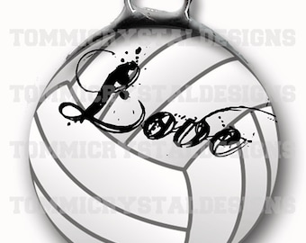 """1.5"""" Volleyball MOM Soldered Art Collage Charm (also comes with no wording)"""