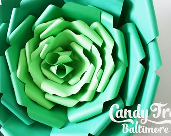 """Giant paper flower, large paper flower, big paper flower for any occasion / green paper flower """"ARIANA"""""""
