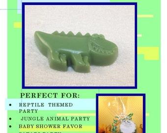 10 Alligator Glycerin Soap Sets, {Favors},Reptile Birthday Party Favors, Wedding Favor, Reptile Favor, Alligator Party, Alligator Soap