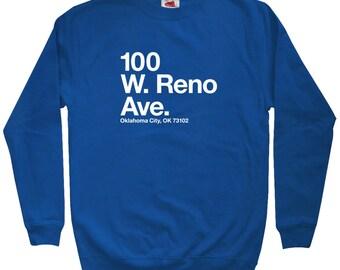 Oklahoma City Basketball Stadium Sweatshirt - Men S M L XL 2x 3x - Crewneck, OKC Shirt, Fan, Sports, Arena - 3 Colors