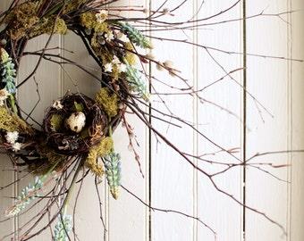 Spring Muscari Nest Wreath