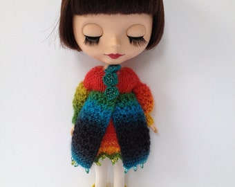 pdf knitting pattern - Lacey lovely coat for Blythe