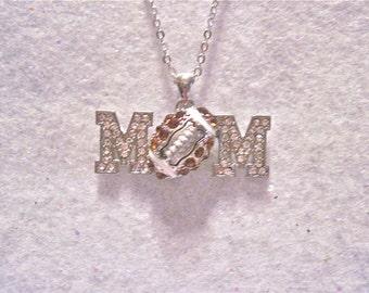 "Football Necklace "" Football Mom """