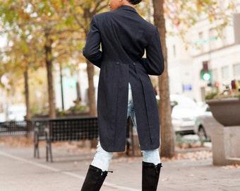 Vintage Coat/ Victorian Tail Coat / Navy Blue Tail Coat