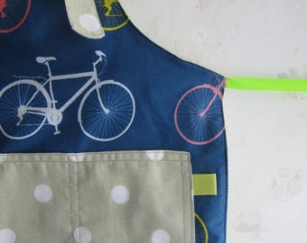 Toddler Apron with pockets - Bicycles