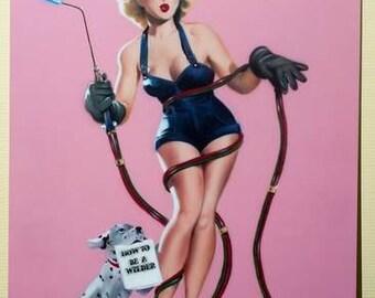 Pin-up Girl, Airbrush Art